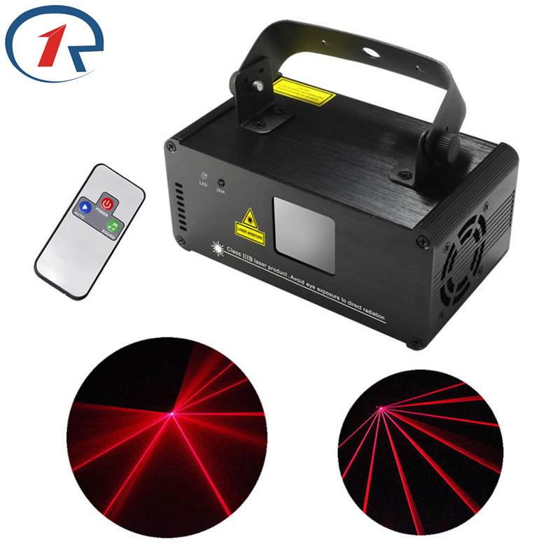 ZjRight IR Remote 200mw RED Laser Stage Effect Light DMX 512 Projector Disco Party Bar KTV dj holiday Xmas decor ceiling Lights 2pcs dj disco par led 54x3w stage light dmx strobe flat luces discoteca party lights laser rgbw luz de projector lumiere control