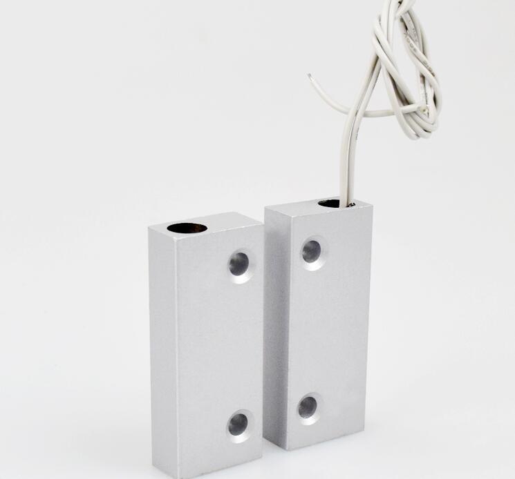 Metal Magnetic Door Sensor contact Switch for shutter door window gate GSM alarm access control system wireless door magnetic contact for gsm alarm system door alarm sensor