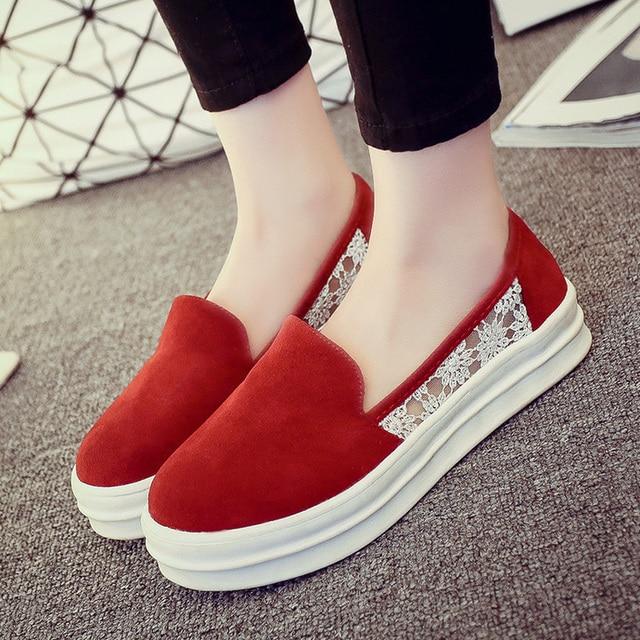 894e7436339 2015 été de style plate - forme chaussures femmes plate - forme plate  casual chaussures simples