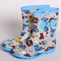 Los niños de todas las estaciones rainboots impermeables niños y niñas antideslizante zapatos niños antideslizantes botas de lluvia lindos animales blanco rosa