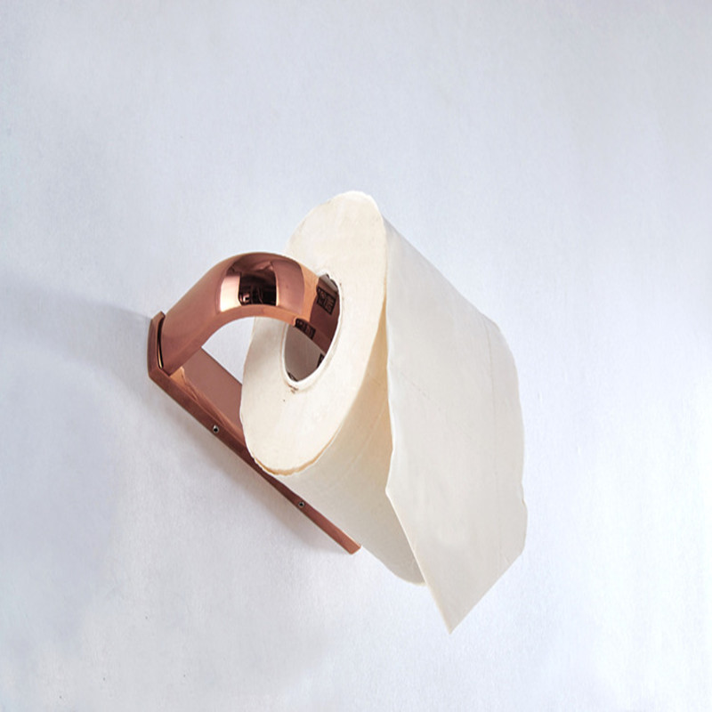 Aothpher Rose Gold Paper Roll Holder Bathroom Accessories