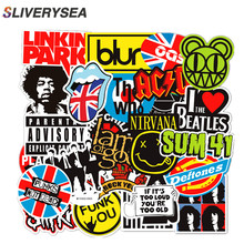 100pcs/set Rock Sticker Music Retro Band Graffiti JDM Stickers To DIY Guitar Motorcycle Laptop Luggage Skateboard Car Snowboard стоимость