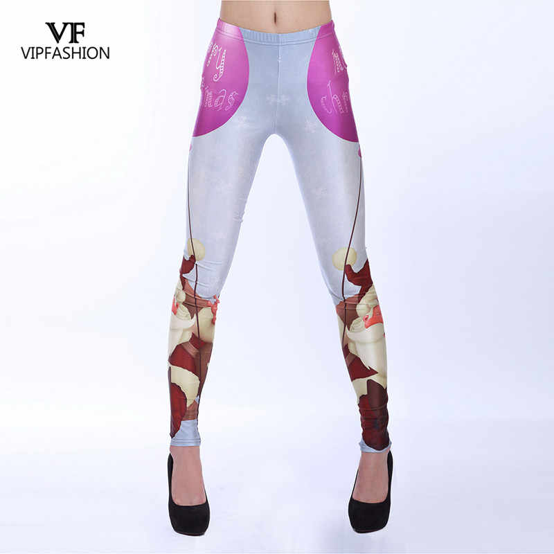 7e34c4e81a8 VIPFASHION Marry Christmas Leggings Women Workout Autumn Santa Claus 3D  Digital Print Leggins Women Long Pants