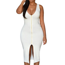 S-4XL Sexy Dress Club Plus Size Women Party Dress Bodycon