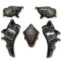 Motorcycle Modified LED Taillight LED Smoked Black Turn Signal LED Smoked Black Front Turn Signal For