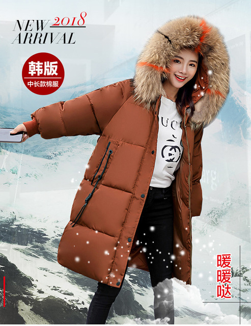 7e6271ae91cf 2018 invierno coreano color pesado Seta plomo algodón acolchado ropa moda  coreana abajo Tide40