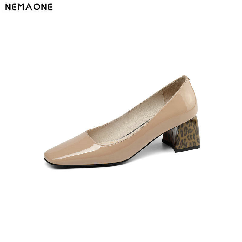 NEMAONE New Women Shoes 2019 Women Genuine Leather Shoes Office Career Shoes Women High Heels Work