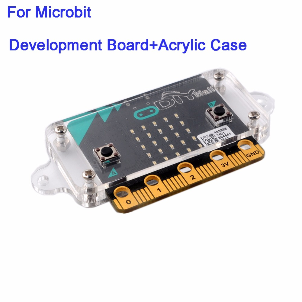Develoment Main Board with Transparent Clear Acrylic Case Box Shell Enclosure Housing for BBC Micro:bit microbit FZ3143+FZ3241