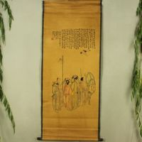 Exquisite Chinese Antique collection Imitation ancient The Eight Immortals Picture