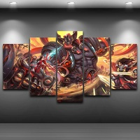 HD Printed Game Drawing Framed Spray Painting Artistic Canvas Print Painting room wall decor Home art Bedroom art up AE0033