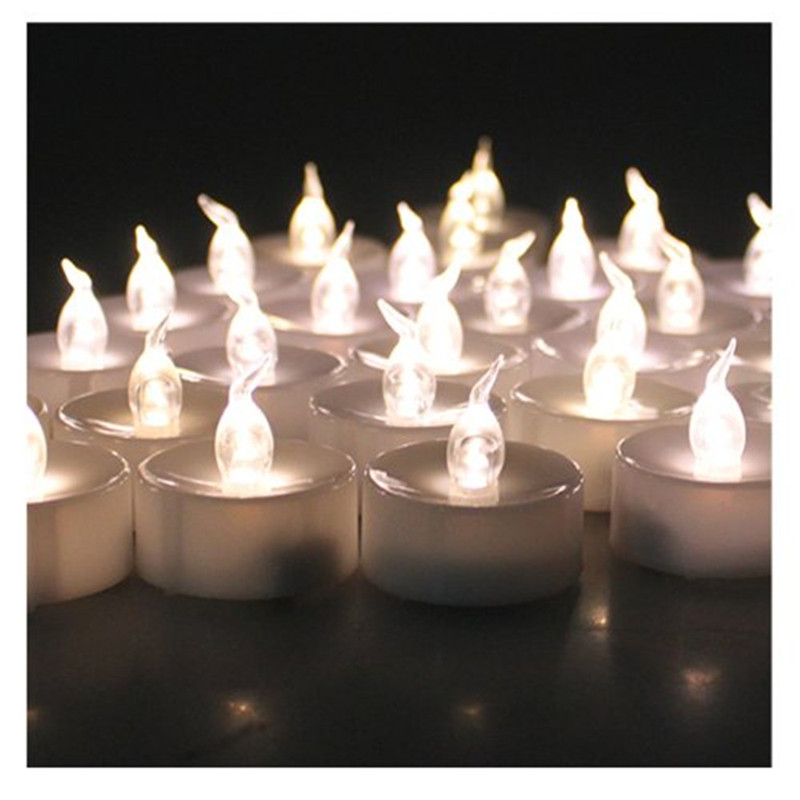 24pcs Small Plastic Wholesale Flameless Candle With Timer Electric Candle  Battery Operated LED Candles With Flickering