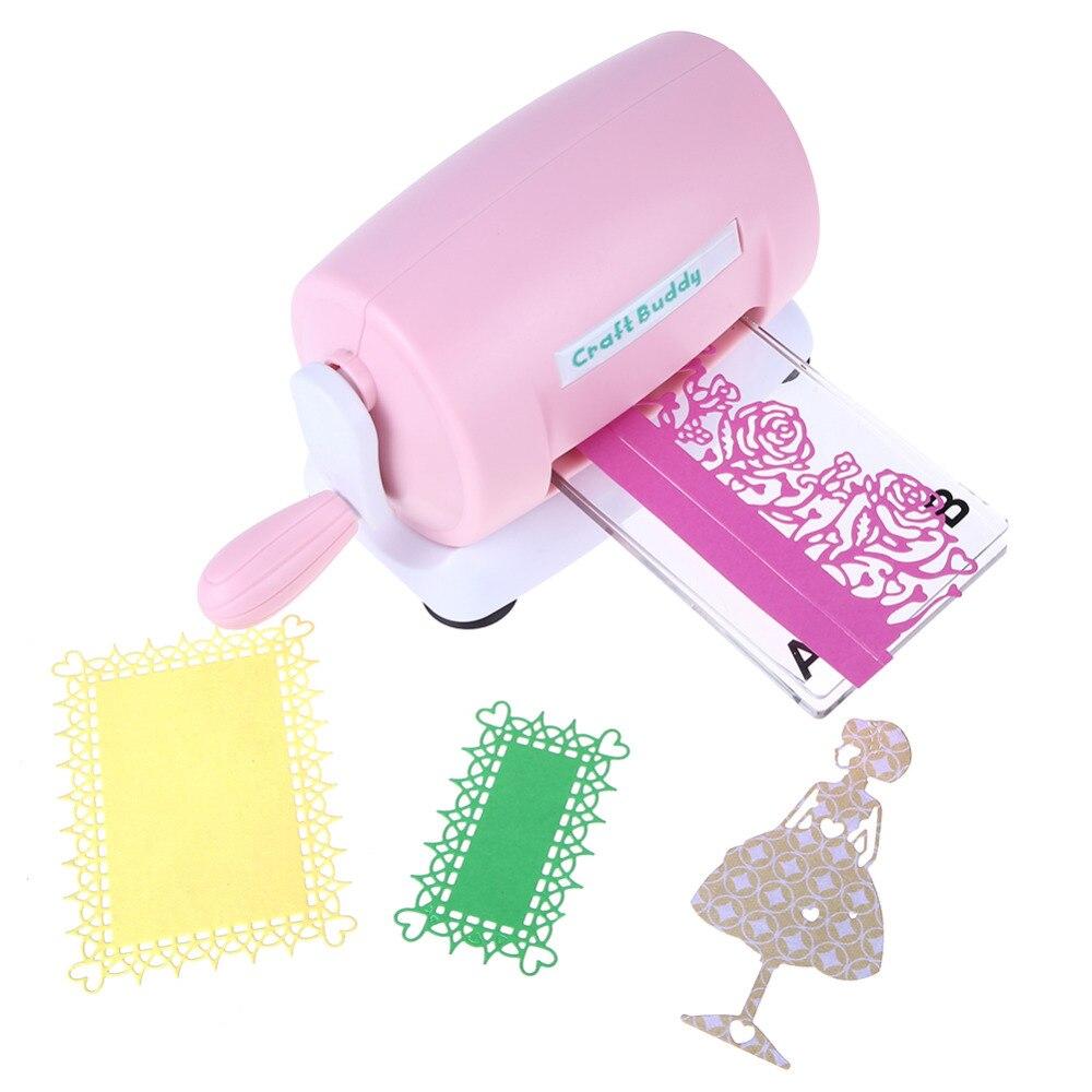 DIY Stirbt Schneiden Präge Maschine Scrapbooking Stirbt Cutter Papier Karte Gestanzte Maschine Hause Präge Stirbt Werkzeug Rosa Lila