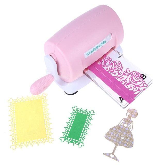 DIY muere de corte de máquina de grabación en relieve Scrapbooking muere cortador de papel de la tarjeta morir máquina de corte de casa en relieve muere herramienta rosa púrpura