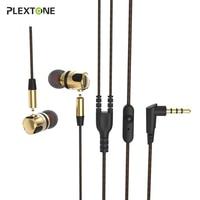 PLEXTONE X46M Noise Cancelling 3.5mm Jack Staccabile In Metallo In-Ear Auricolari Per Tutto Il Telefono Mobile Universale Auricolare Microfono