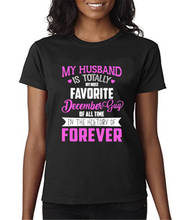 High Quality T Shirts Short Crew Neck My Husband Is Totally Best Friend Womens