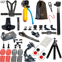 QQT for GoPro Hero 7 6 5 4 Accessories Set gopro 7 Session SJCAM Millet Sports Camera gopro Mounting Accessories