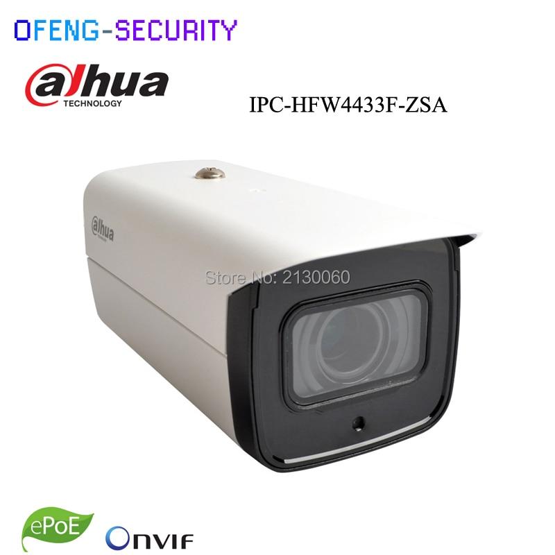 Dahua IPC-HFW4433F-ZSA replace of IPC-HFW4431T-ASE 2.7mm ~13.5mm lens Mic Memory slot 4MP ip camera POE cctv camera, IP camera