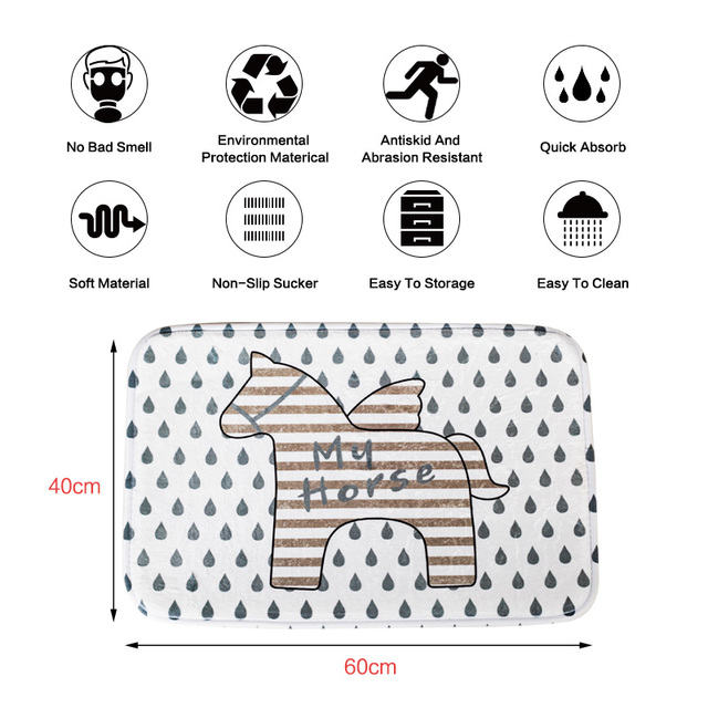 SDARISB a Cavallo Del Fumetto Tappeto Camera Dei Bambini, tappeti da cucina Bagno Tappeto Porta D'ingresso Tapete Para Quarto Zerbino s Outdoor Da Bagno A Buon Mercato Zerbino