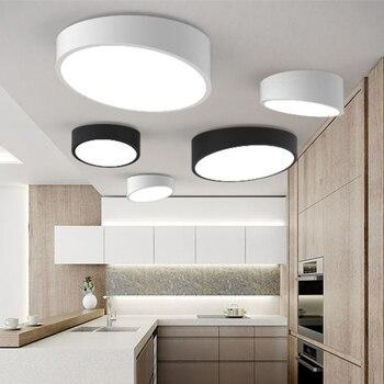 블랙/화이트 디아 25-50 cm 슬로프 led 천장 조명, rc 디 밍이 가능한 천장 조명 plafondlamp 철 전등 갓 침실 조명기구