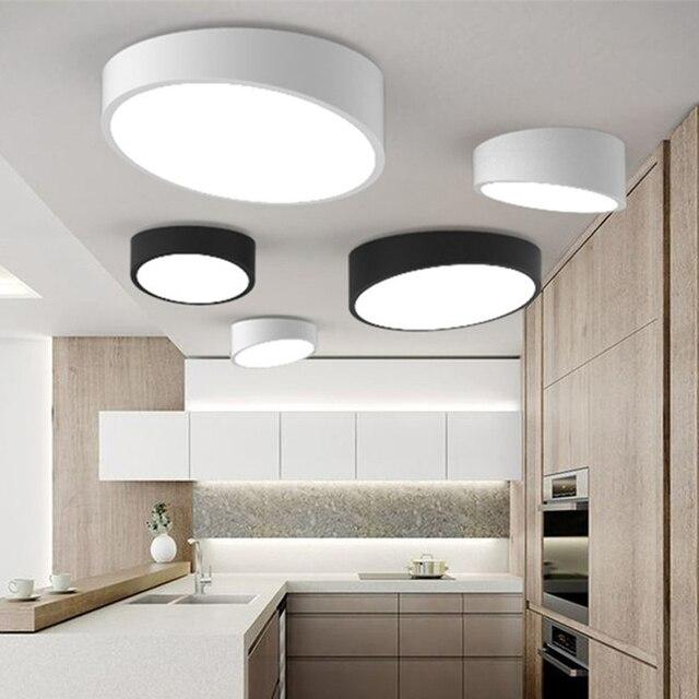 Noir/Blanc Dia 25 50 cm Pente Led plafonnier, RC Dimmable Plafond ...