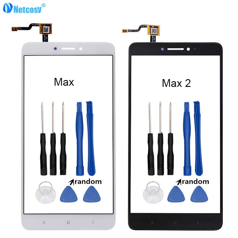 Netcosy Touchscreen For Xiaomi Mi Max/ Max 2 Touch Screen Digitizer Panel Replacement Part For Mi Max/ Max 2 Touch Panel +tools