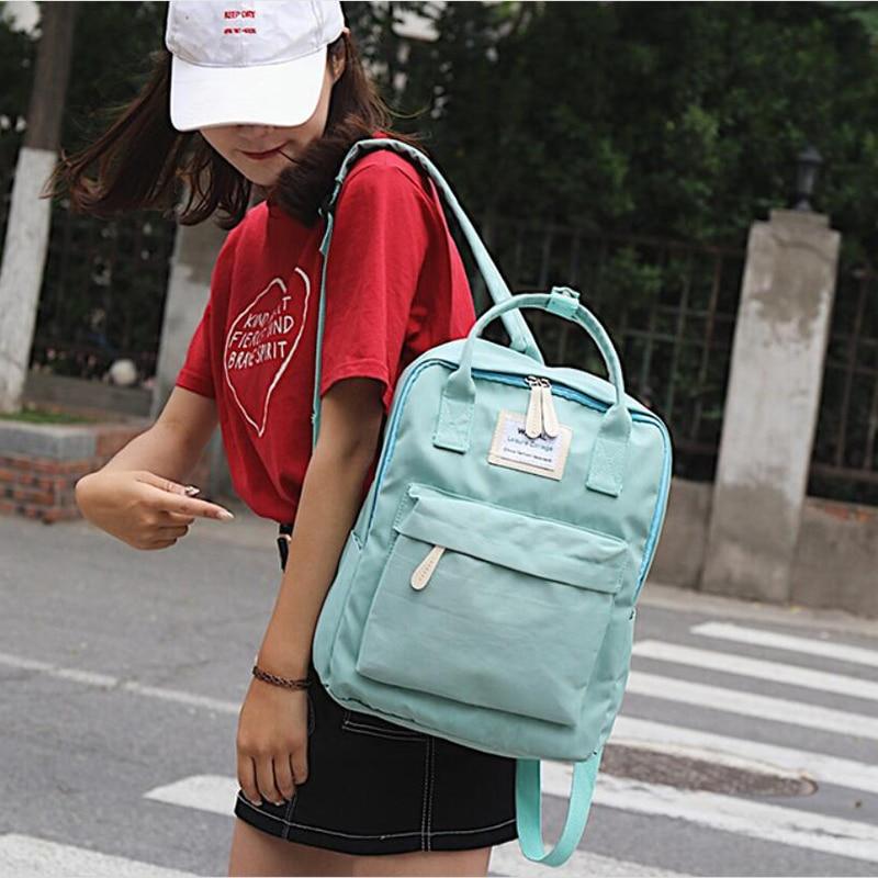 HTB1f3VbvDCWBKNjSZFtq6yC3FXaZ Yogodlns Campus Women Backpack School Bag for Teenagers College Canvas Female Bagpack 15inch Laptop Back Packs Bolsas Mochila