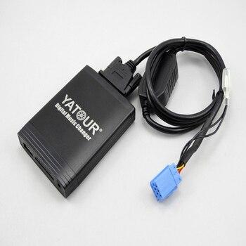 Adaptador USB Yatour para Renault Clio Twingo, Laguna Megane, lista de actualización de lista de sintonizador de música Digital CD para coche, adaptador para MP3