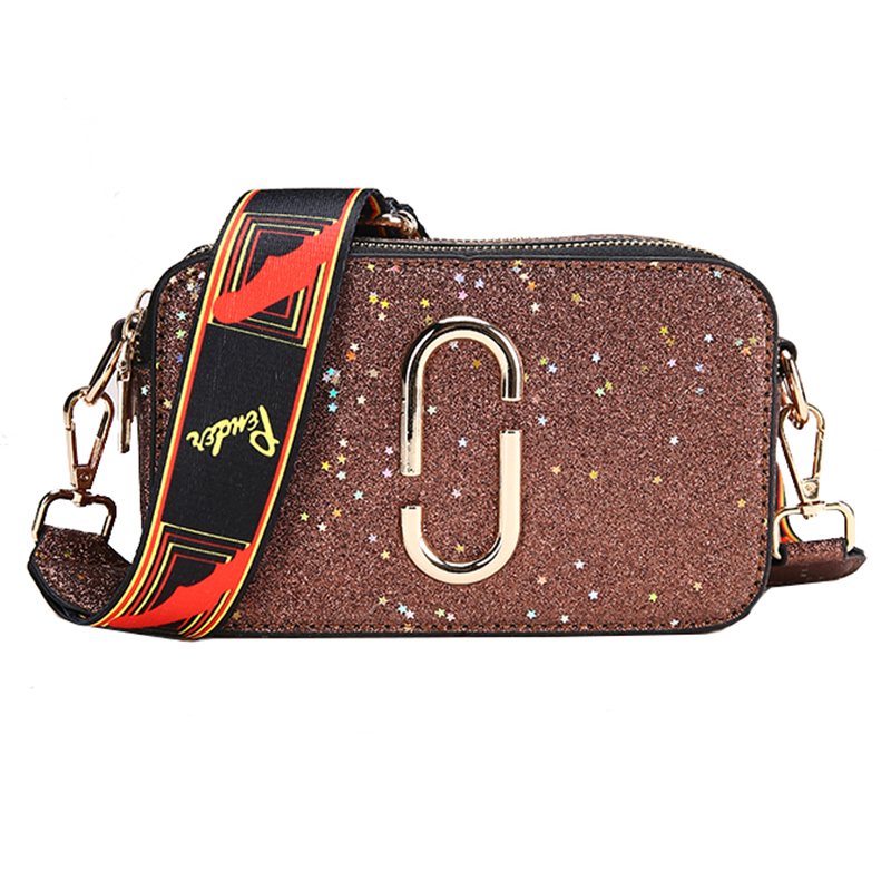 Sequins Female Small bag 2018 Fashion Handbags High-quality PU Leather Women bag Simple Wild Shoulder bags Messenger Phone bag