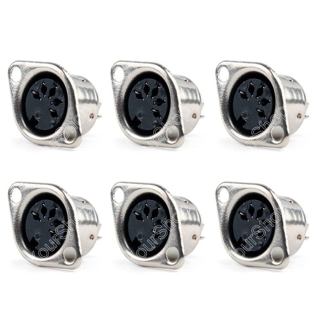 Areyourshop Verkauf 50 Stücke Din Weiblichen Klinkenkabel Stecker-adapter 5 Pin Stecker Panel Montage Solder minij