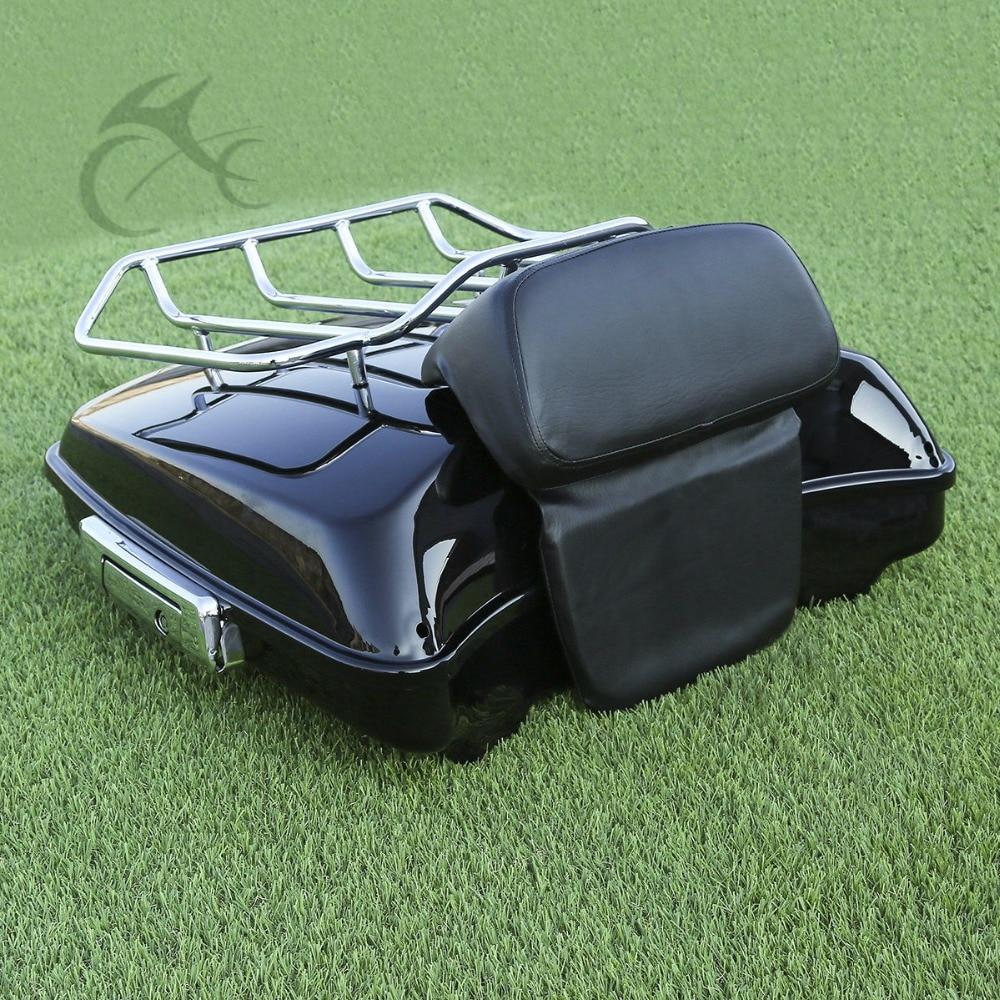 Motocycle Pack Bagagerek Metalen Basis Voor Harley Tour Pak Touring Electra Glide 2014 17 - 2