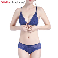 Women S Sexy Bra Sets Push Up Underwire Bra And Panty Set Lace Soft Cotton Cup