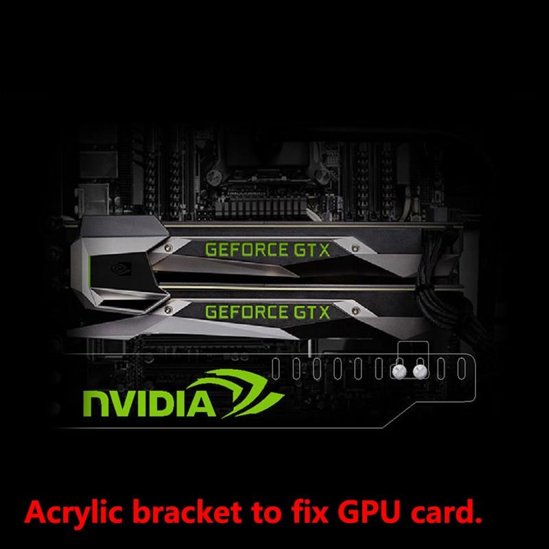 Custom Made Acrylic Bracket Use For Brace GPU Card With RGB Light Board Size 280 45