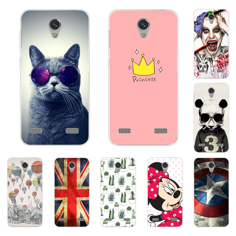 Zte Blade A520 Case,Silicon Fashion Cartoon Painting Soft TPU Back Cover For Zte Blade A 520 Protect Phone Bags