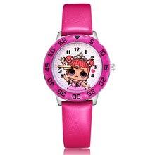 Модные милые детские часы в стиле принцессы для девочек и мальчиков, кварцевые наручные часы Clcok JM95