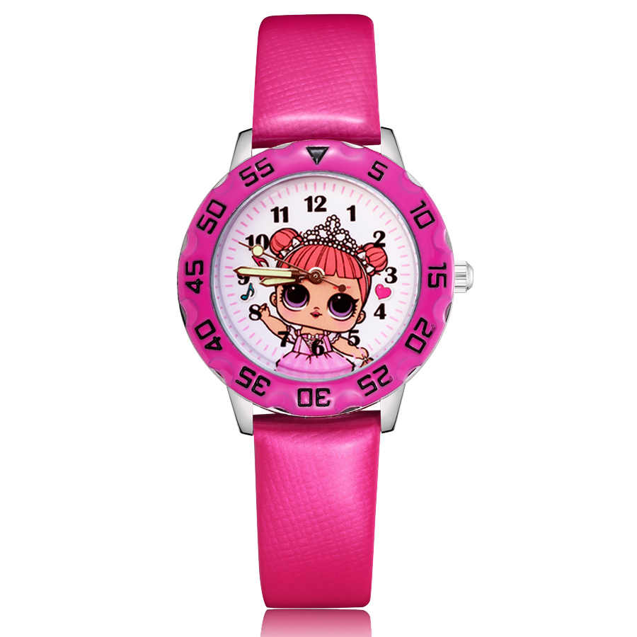 Fashion Cute pretty girl princess style Children's Watches Kids Student Girls Boys Quartz leather Wrist Watch Clcok JM95