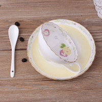 1Pcs Elegant Coffee Cup Ceramic Cup Afternoon Tea Cup Plate Novelty Gifts Daily Supplies Household Items