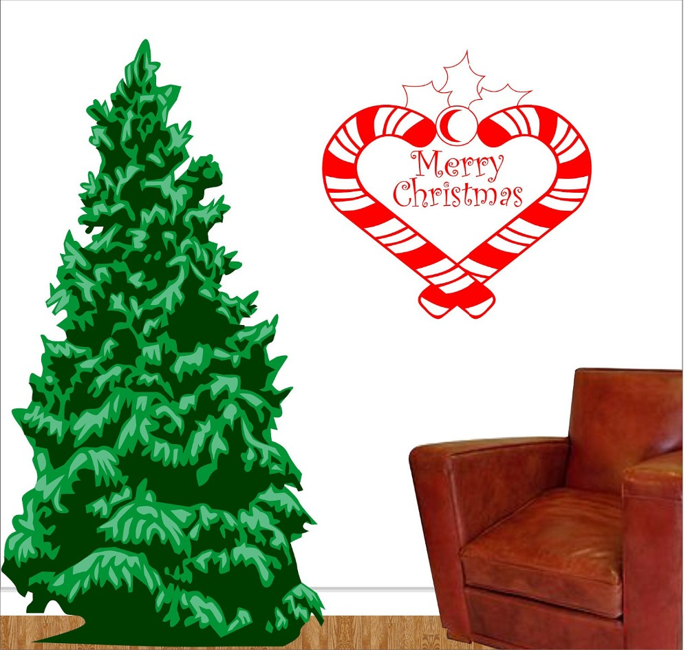 compare prices on candy cane stickers online shopping buy low merry christmas candy canes christmas wall decal candy cane christmas wall vinyl sticker home decor