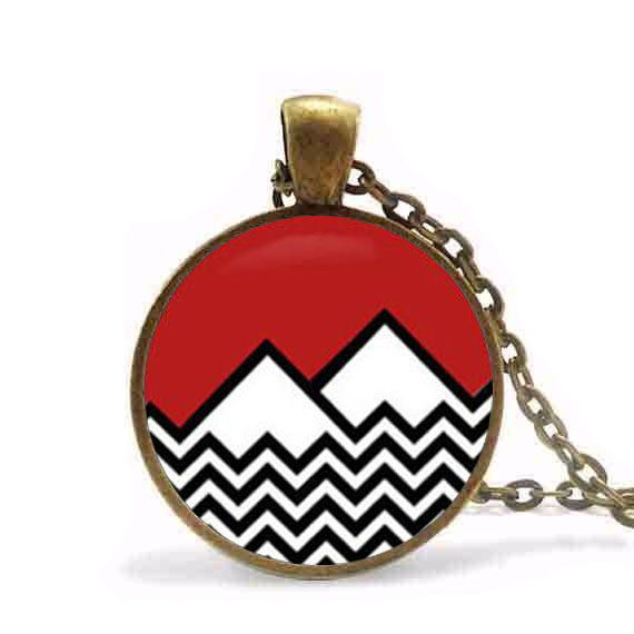 Twin Peaks Pikachu Pokemon Pendant Necklace Cute Double Cat Couple Jewelry women men gif ...