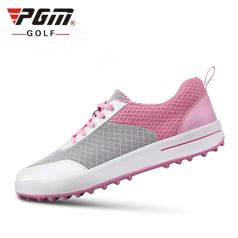 Authentic PGM Golf Shoes Women Ultra-Light Breathable Mesh Women Sports Shoes Non-Slip Girls Golf Shoes B2855 hot pgm golf bag golf clothes bag men
