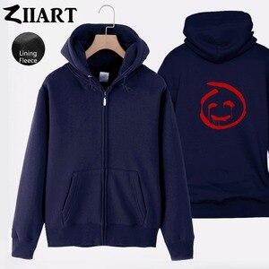 Красная парная одежда с принтом «Джон Менталист», «Смайлики», флисовое пальто с капюшоном на молнии для девочек, куртки на осень и зиму, ZIIART