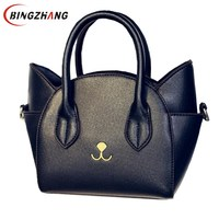 Design encantador top-handle bolsas de ombro de couro das mulheres do sexo feminino bonito Do Gato bolsas Mensageiro senhora pequenas bolsas presente maravilhoso L8-31