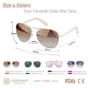 Image 5 - COLOSSEIN Luxury Vintage okulary przeciwsłoneczne damskie okulary Ultralight jazdy Pilot spolaryzowane okulary mężczyźni złote oprawki UV400 okulary