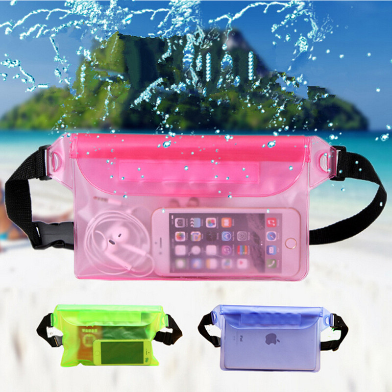 Swimming Waist Bag Waterproof Phone Pocket Sports Drifting Diving Waist Fanny Pack Pouch Underwater Dry Shoulder Backpack F014
