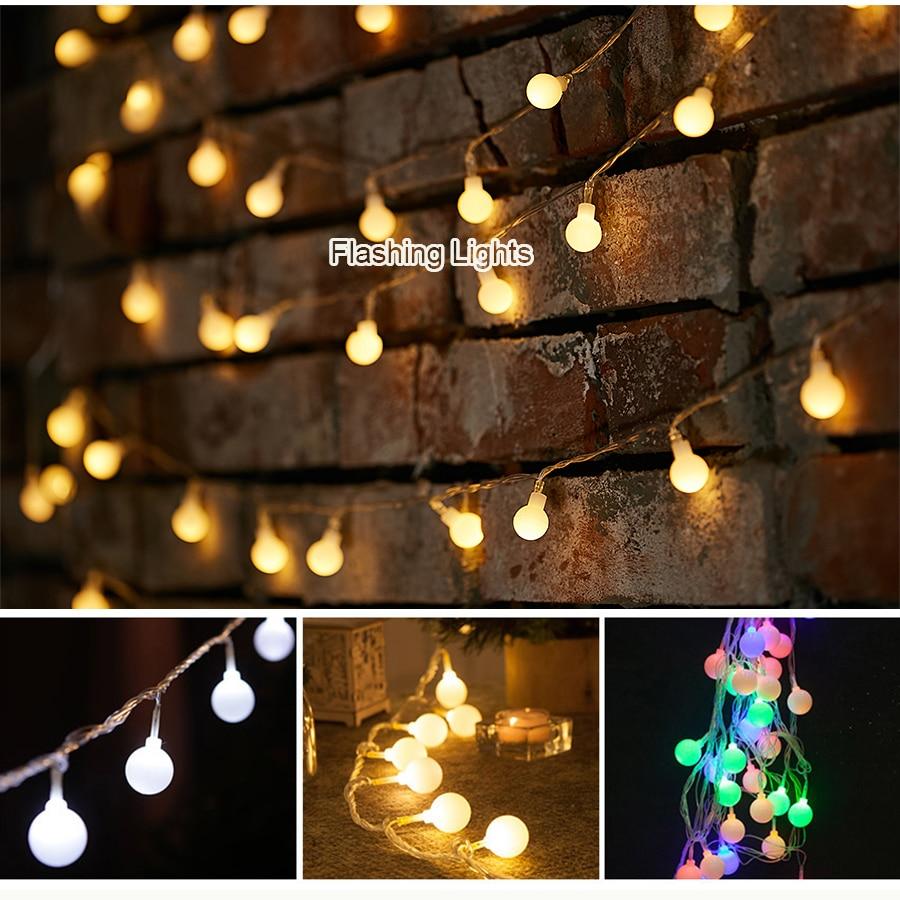 AC220V 5M 28LED Cherry Ball lampu tali mentol Garland LED hiasan - Pencahayaan perayaan - Foto 2