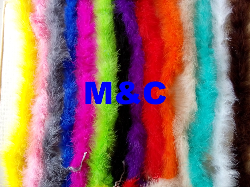 Free Shipping 5pcs multi-colors marabou turkey feather boa 2 meter long per pc chicken feather fringes