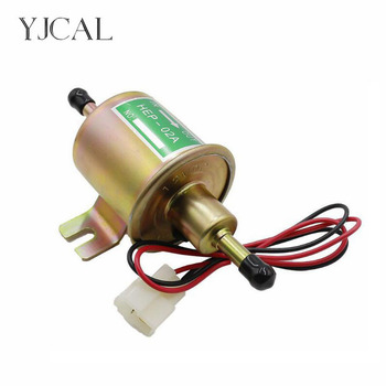 Electric Petrol Pump HEP-02A DC 12V 24V Fuel Pump Low Pressure Car Diesel Gas Pump For Motorcycle TOYOTA Ford Yanmar NISSAN ATV rastp 12v electric fuel gas oil pump 3 6 psi pressure hep 02a universal for car truck boat rs fp009