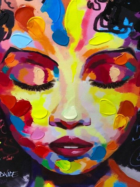 Online Shop New Graffiti Street Wall Art Abstract Modern African ...