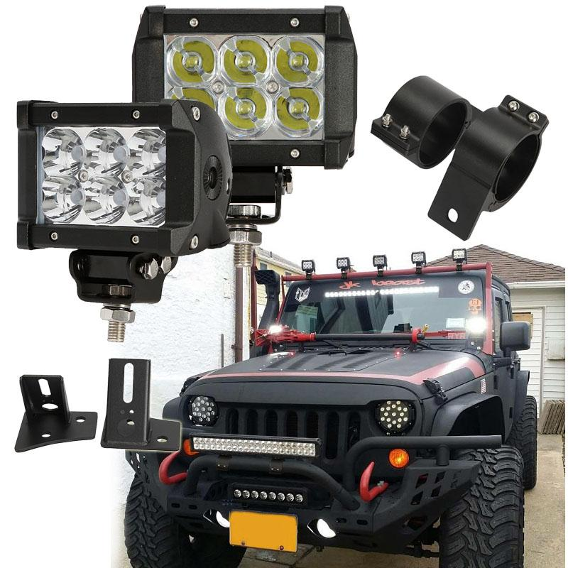 2x 76 81mm car bull bar lights mounting bracket auto offroad driving 2x 76 81mm car bull bar lights mounting bracket auto offroad driving lamp clamps mount brackets for jeep suv atv truck 4x4 4wd in protective frames from aloadofball Image collections
