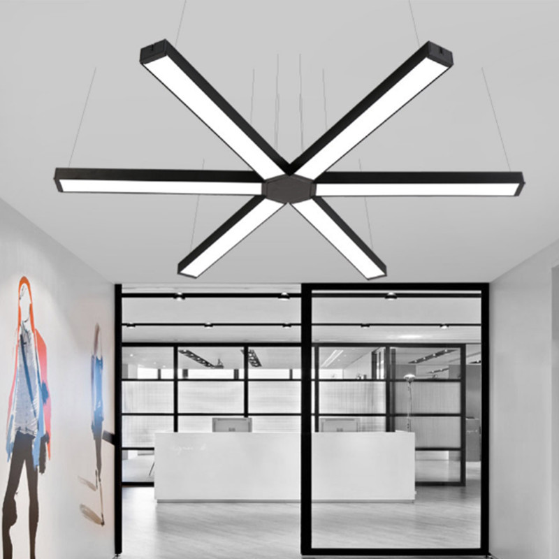 Us 6 46 45 Off Smuxi Office Led Light Modern Linear Pendant Lamp Hanging Bar Droplight For Conference Room Study Home Decor In Lights From