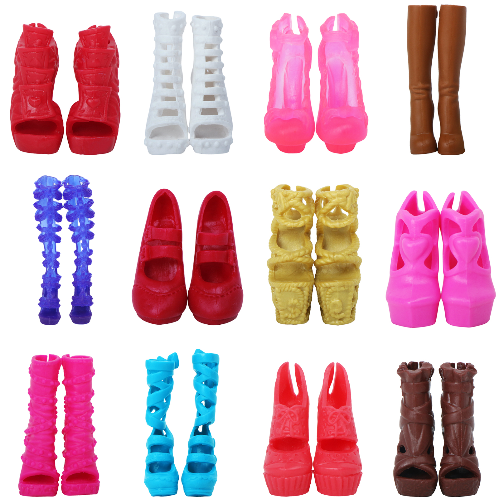 High Quality Doll Shoes For Monster High Doll Wedding Party Wear Mixed Style High Heels Shoes Boot Sandals Toys Accessories